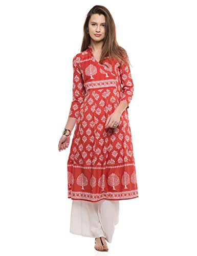 65d258b57 Vishudh Women s Anarkali Kurta (VNKU005190 Tomato Small)  Amazon.in   Clothing   Accessories