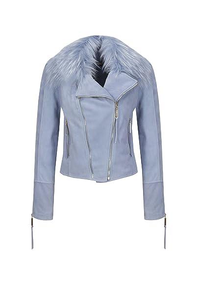 Chaqueta Franchi Smoky Elisabetta Amazon es Mujer Blue Para 38 CZZ5dqw4x