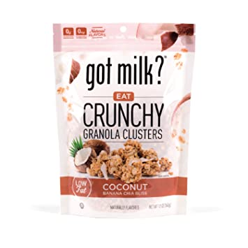 Got Milk? Low Fat Granola Clusters with Chia seeds in ...