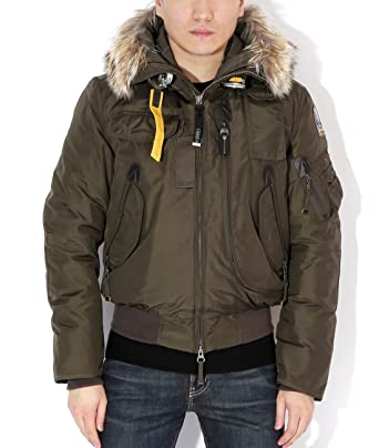 Parajumpers Gobi Men's Bomber Parka With Fur-Lined Hood S Olive