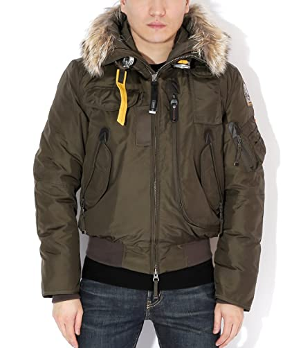 Parajumpers Gobi Men's Bomber Parka With Fur-Lined Hood S Olive at Amazon Men's Clothing store: