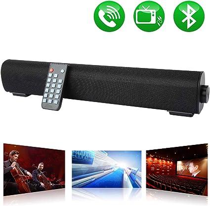 con Cable e inal/ámbricos Bluetooth BT Altavoces para computadora con Control Remoto RCA Barra de Sonido est/éreo de Cine en casa USB Barra de Sonido para PC AUX