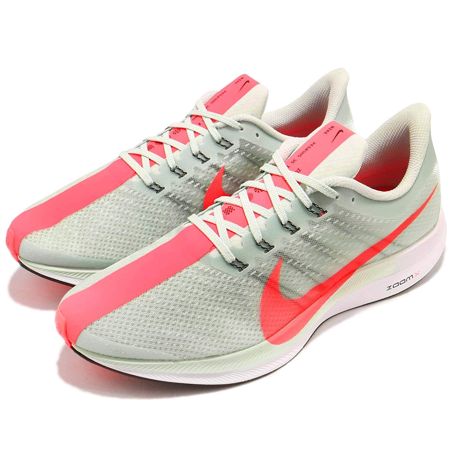 Amazon.com | NIKE Mens Zoom Pegasus 35 Turbo, Barely Grey/HOT Punch-Black, 11.5 M US | Athletic