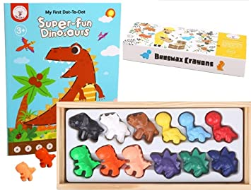 Amazon.com: Beeswax Crayons and Toddler Libro para colorear ...