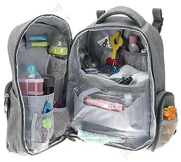 d8c1d4f2e3eb Big Stylish Diaper Bag Backpacks by QuLbaby - Designer Unisex Baby  Organiser for Moms dads Boys