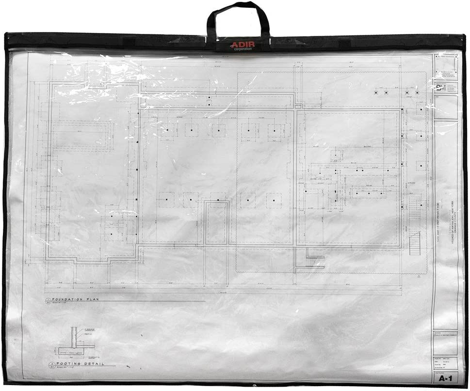 Adir Corp. PS1836 Foldable Waterproof Plans Shield - Blueprint Shield - Plans Carrier - Blueprint Carrier - Map Case - Map Shield - Document Case (18 x 36)