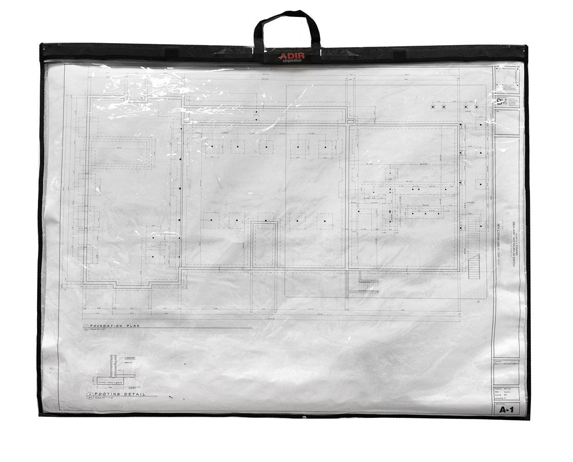 Adir Corp. PS2436 Foldable Waterproof Plans Shield - Blueprint Shield - Plans Carrier - Blueprint Carrier - Map Case - Map Shield - Document Case (24 x 36) by Adir Corp.