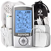 AUVON Rechargeable TENS Unit Muscle Stimulator, 3rd Gen 16 Modes TENS Machine with...