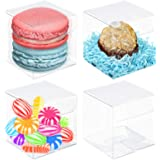 VGoodall Clear Favor Boxes50pcs Plastic Gift Boxes Transparent Cube Boxes PET Boxes for WeddingPartyBaby ShowerBridal Shower
