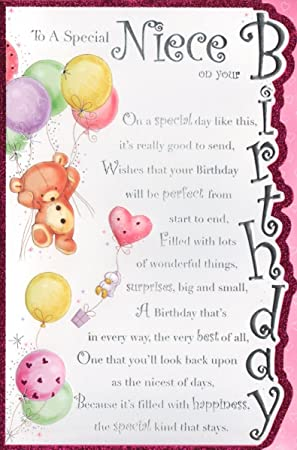 Niece Birthday Card To A Special Niece On Your Birthday Free Uk Shipping Amazon Co Uk Office Products