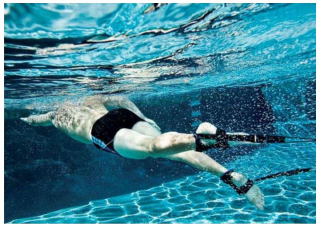 Aquasphere papelería nadar entrenador Cable Arnés Marathon tobillo ...