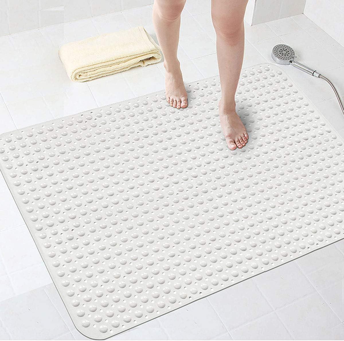Bathsafe Extra Wide 88x58cm Non Slip Soft Bath Mat Anti Slip Tpr