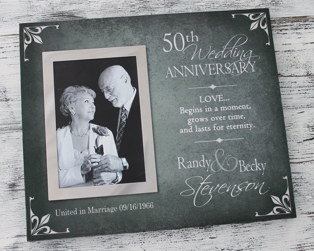 Amazon.com: 50th Wedding Anniversary Picture Frame, 25th wedding ...