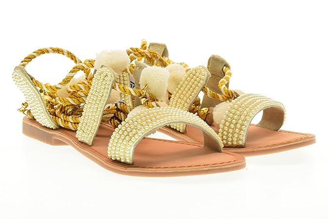 GIOSEPPO sandalias de los zapatos de las mujeres planas 40501-24 Quetzalí talla 39 Color blanco SJ6CtipF
