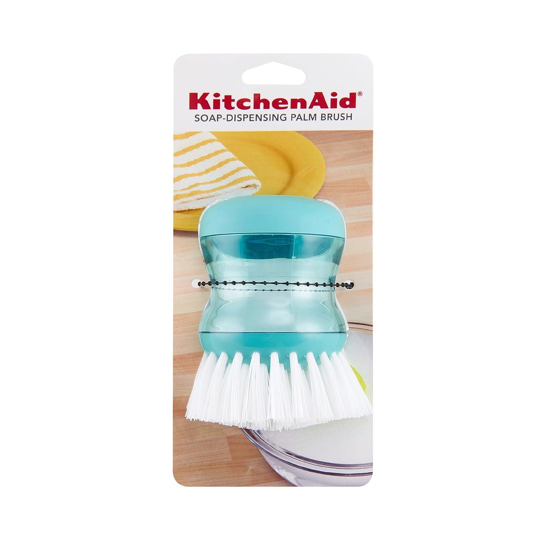 KC826OHERA Red Lifetime Brands KitchenAid Soap Dispensing Palm Brush