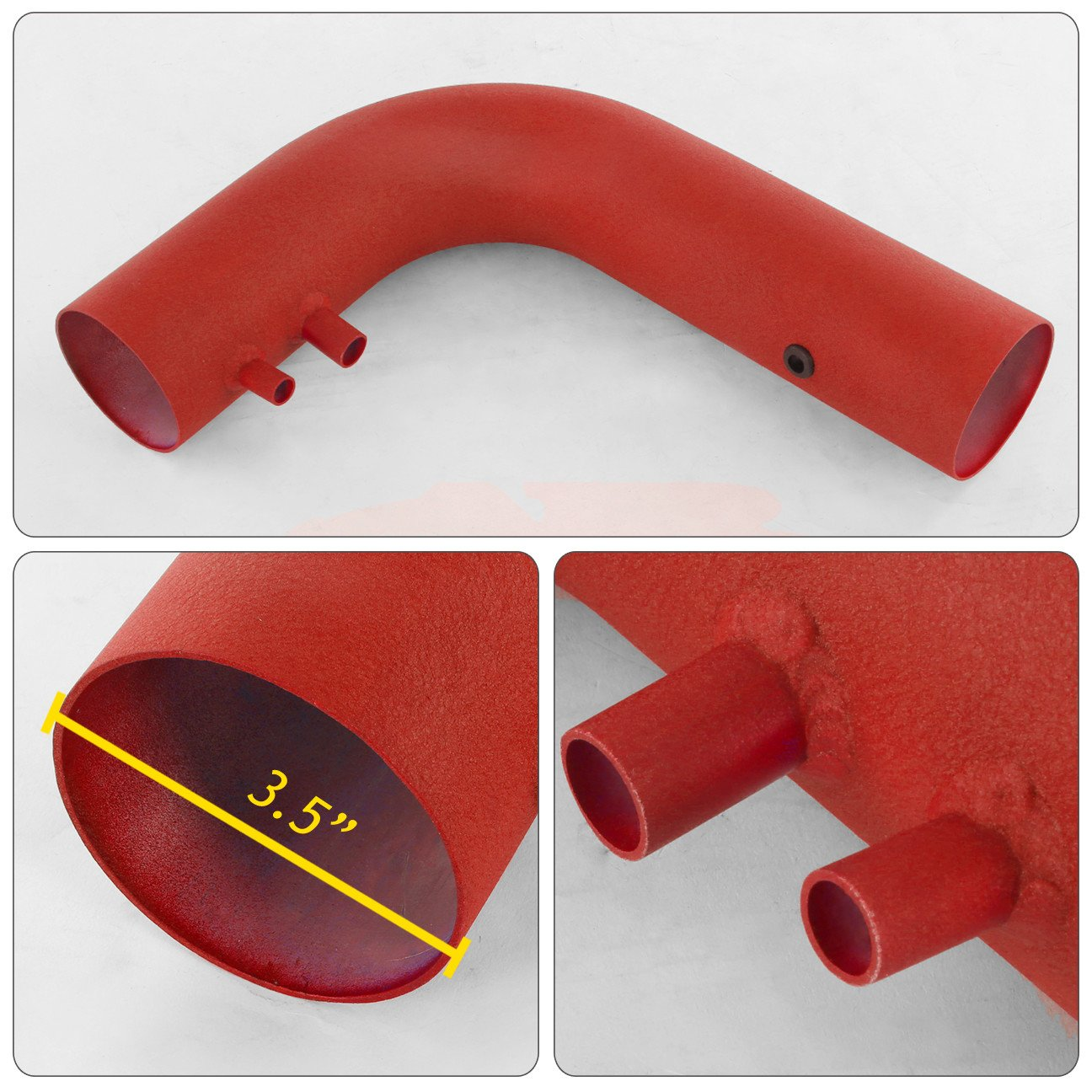 For Ford F150 F250 Expedition Heritage Lincoln Navigator V8 5.4L 4.6L 5.4 4.6 Liter High Flow Induction Air Intake System Heat Shield Red Wrinkle Piping Kit