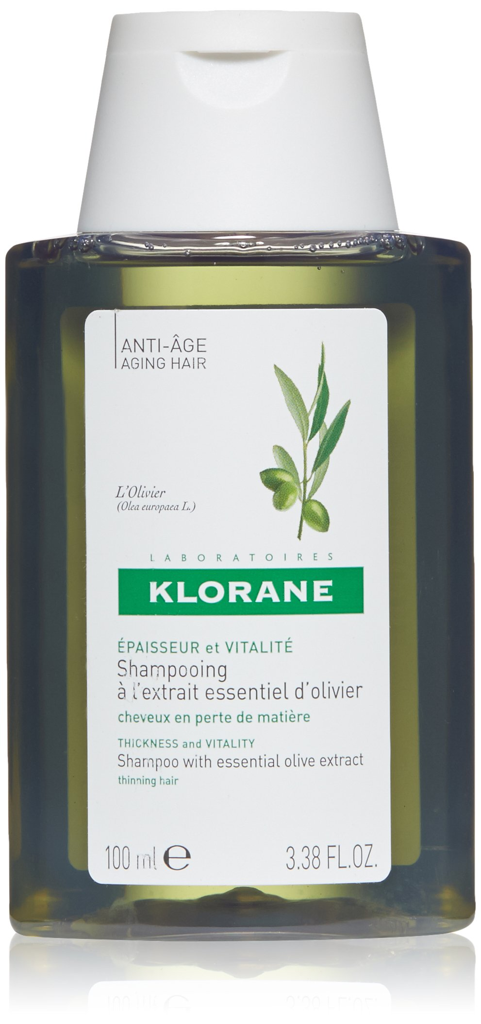 Klorane Shampoo with Essential Olive Extract - Aging Hair, 3.35 fl. oz.