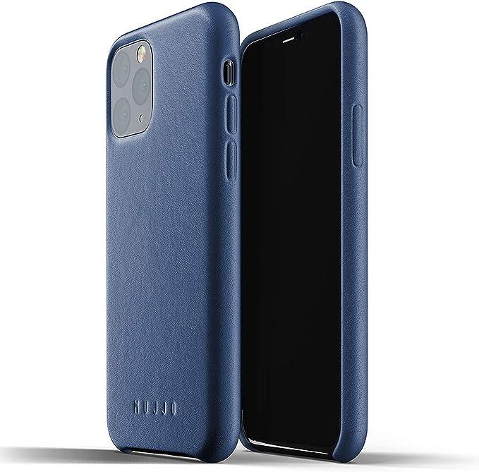 Mujjo Estuche para Apple iPhone 11 Pro | Funda de cuero suave efecto envejecido natural, elevado 1mm en la pantalla, cubierta súper delgada (Negro): Amazon.es: Electrónica