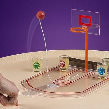 Framan Basket de Escritorio. Juego para Beber chupitos. Baloncesto con chupitos de Escritorio. Incluye 6 Vasos de chupito: Amazon.es: Juguetes y juegos