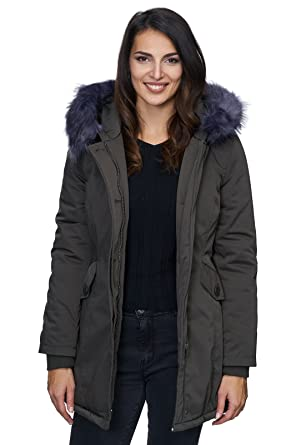 Outdoor Damen Jacke Winterjacke warme Damenjacke Parka Mantel lang D-224 S- XL  Amazon.de  Bekleidung 8b3b0b8d88