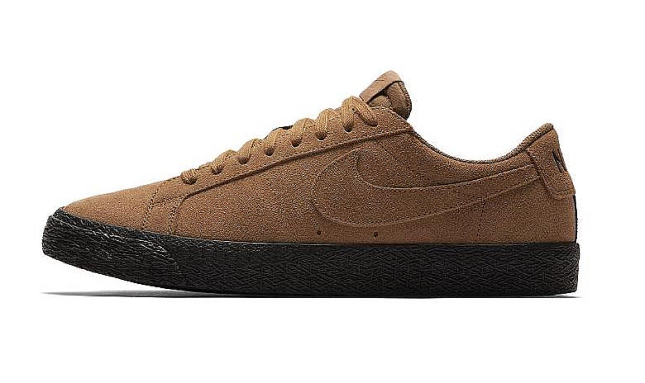 NIKE SB Zoom Blazer Low Mens Fashion-Sneakers 864347-200_9.5 - LT British TAN/LT British TAN-Black