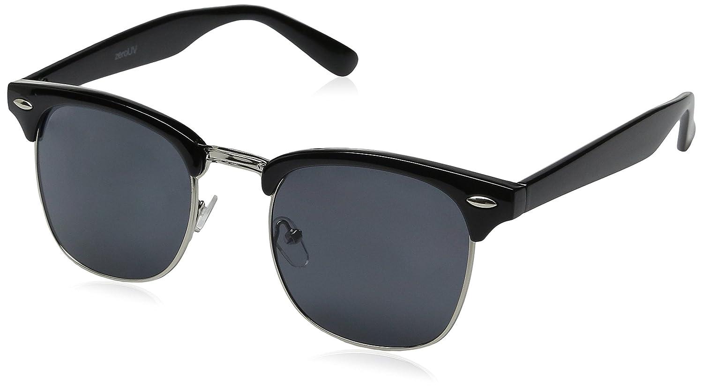 zeroUV Designer Inspired Classic Half Frame Horned Rim Sunglasses zeroUV Sunglasses ZV-2934d