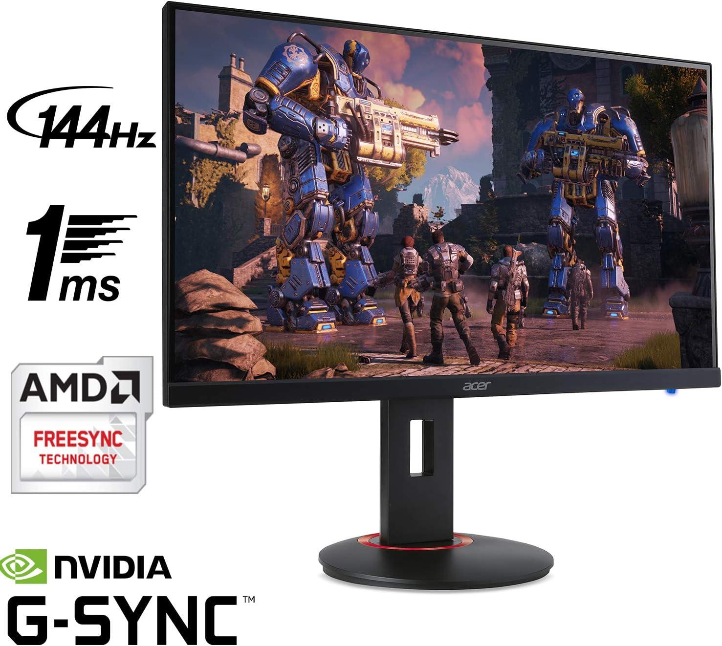 Amazon.com: Acer XF270H Bbmiiprx Monitor para juegos Full HD de 27 pulgadas  (1920 x 1080) Zero Frame TN AMD FreeSync y NVIDIA G-SYNC compatible - 1 ms    144 Hz Refresh (puerto