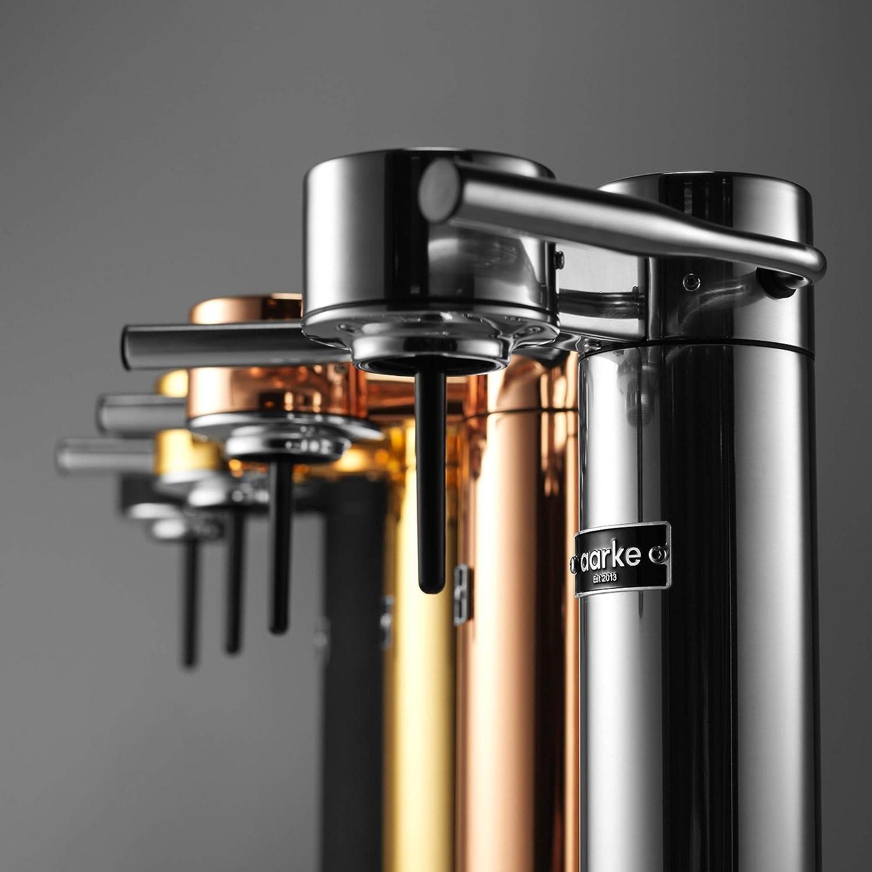 【国内正規品】[アールケ] AARKE Carbonator II/カーボネーターII [ソーダストリームガスシリンダー対応] 高級ステンレス製炭酸水サーバー/ソーダマシン 専用ペットボトル付き (シルバースチール)