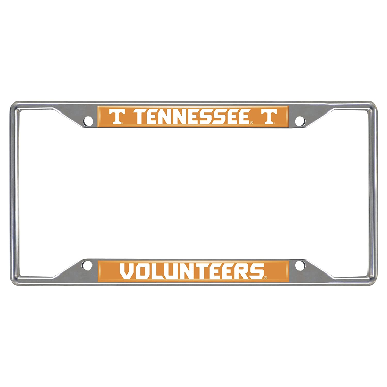 FANMATS NCAA University of Tennessee Volunteers Chrome License Plate Frame