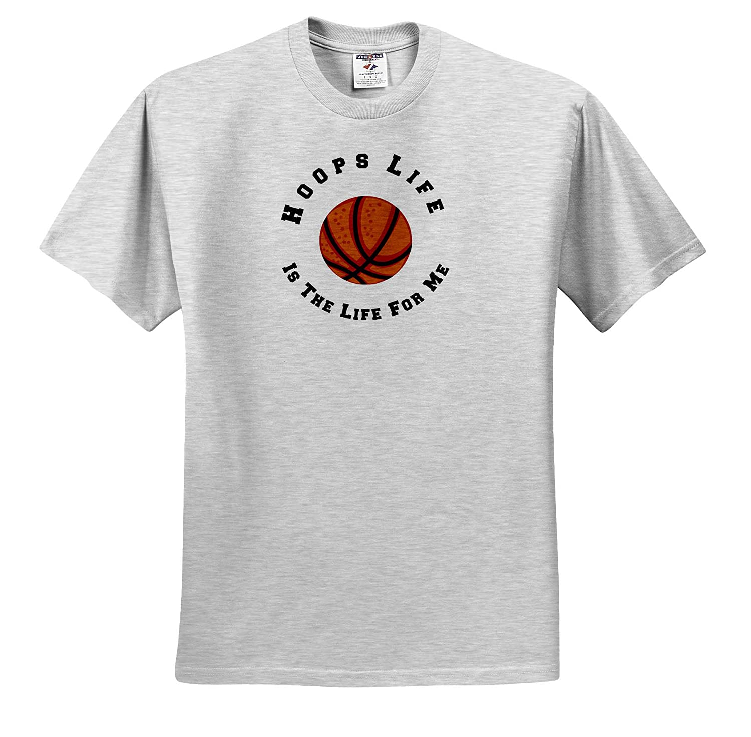 3dRose Carrie Merchant Quote T-Shirts Image of Hoops Life is The Life for Me