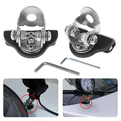 2pcs LED Light Bar Mounting Brackets A Pillar Hood Universal Work Light Clamp Holder Mount 304 Stainless Steel for Car Offroad Jeep Truck SUV 4x4: Automotive