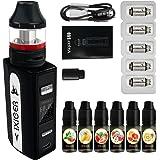 IXIGER Cigarrillo Electronico S60 E-Cigarrillo 60W 2.0 ml/0.3 ohm Top Refill Vaporizador 6x E-líquido 0 mg Nicotina