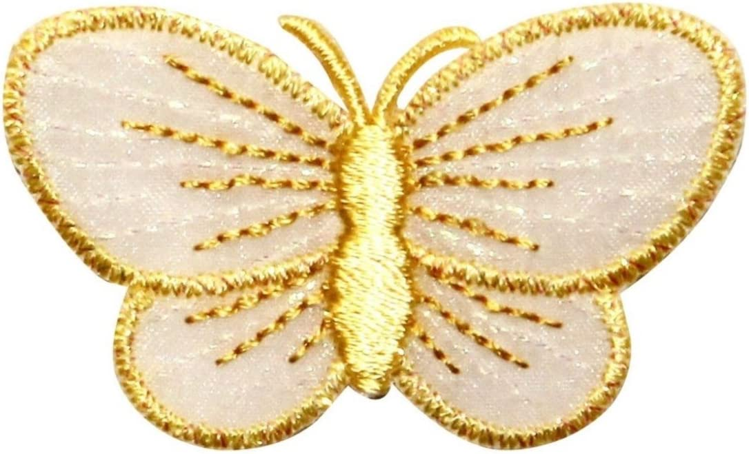 ID 2058 Butterfly Badge Patch Garden Symbol Insect Embroidered Iron On Applique
