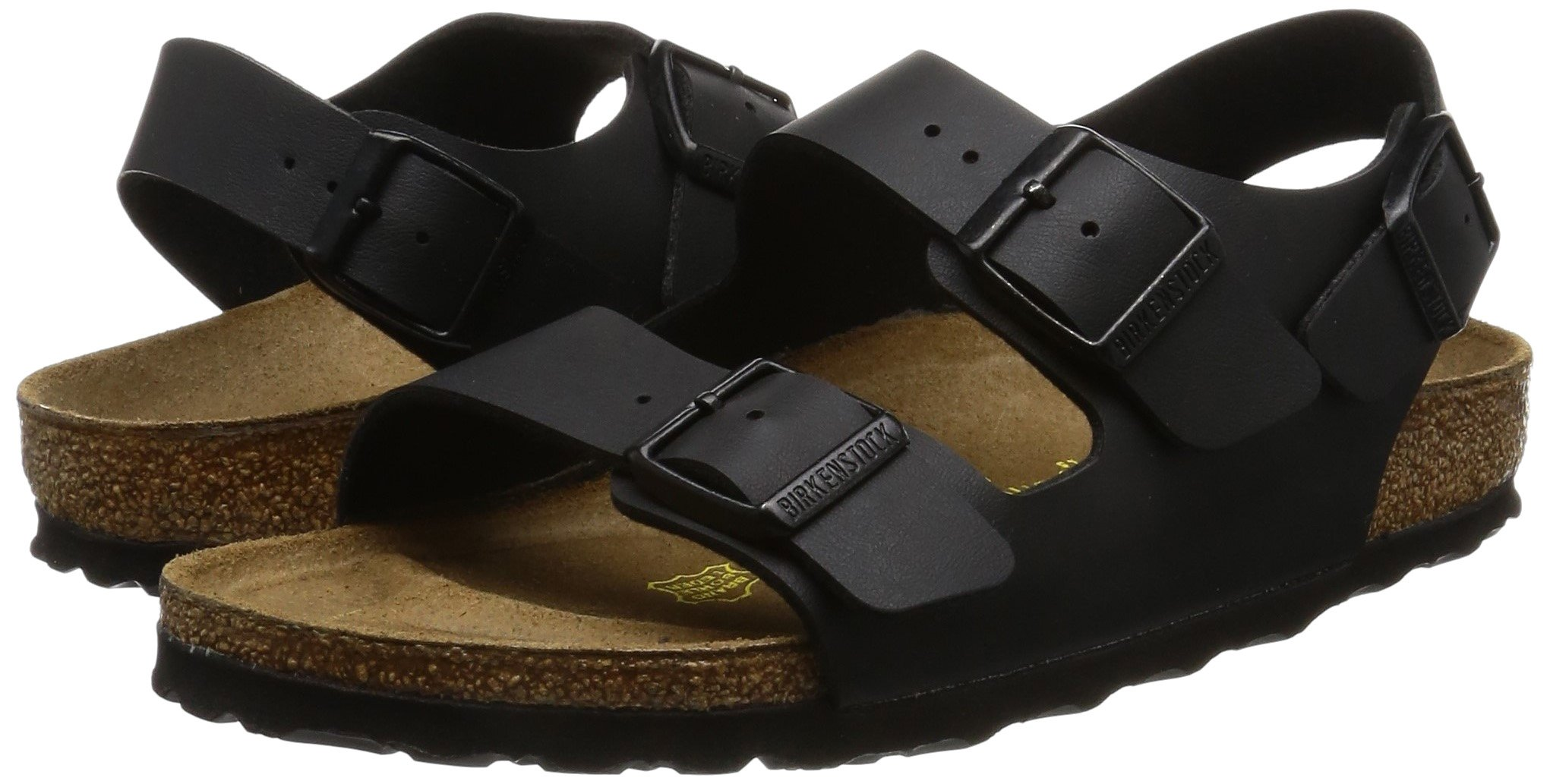 2840fa8d7 Birkenstock Unisex Milano Leather Sandals, Black, 40 - 034791 < Sandals <  Clothing, Shoes & Jewelry - tibs