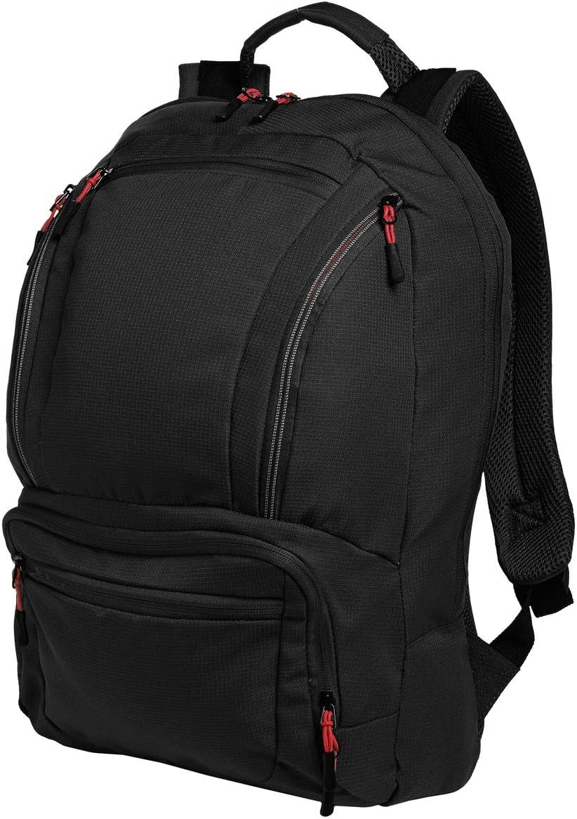 Port Authority Luggage-and-Bags Cyber Backpack OSFA Black/Red