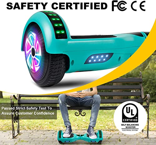 Felimoda Hoverboard, w Bluetooth Speaker for Kid and Adult- UL2272 Certified Green