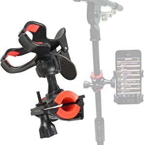 Mr.Power Universal Microphone Mic Stand Phone Holder for iPhone Samsung Smart Phones (Phone Holder)