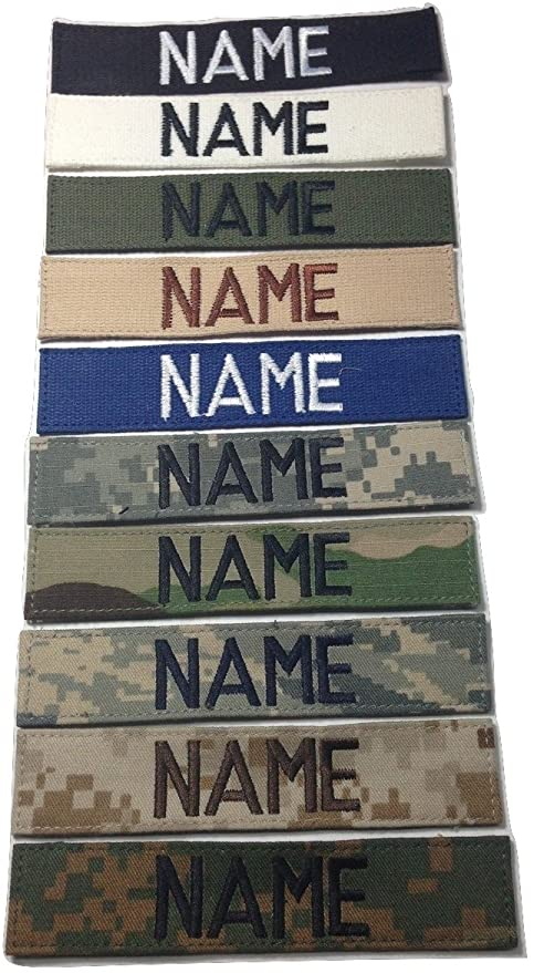 with Fastener or Sew-On With Fastener, OD Custom Military Name Tape US ARMY USAF USMC POLICE CivilAirPatrol ....