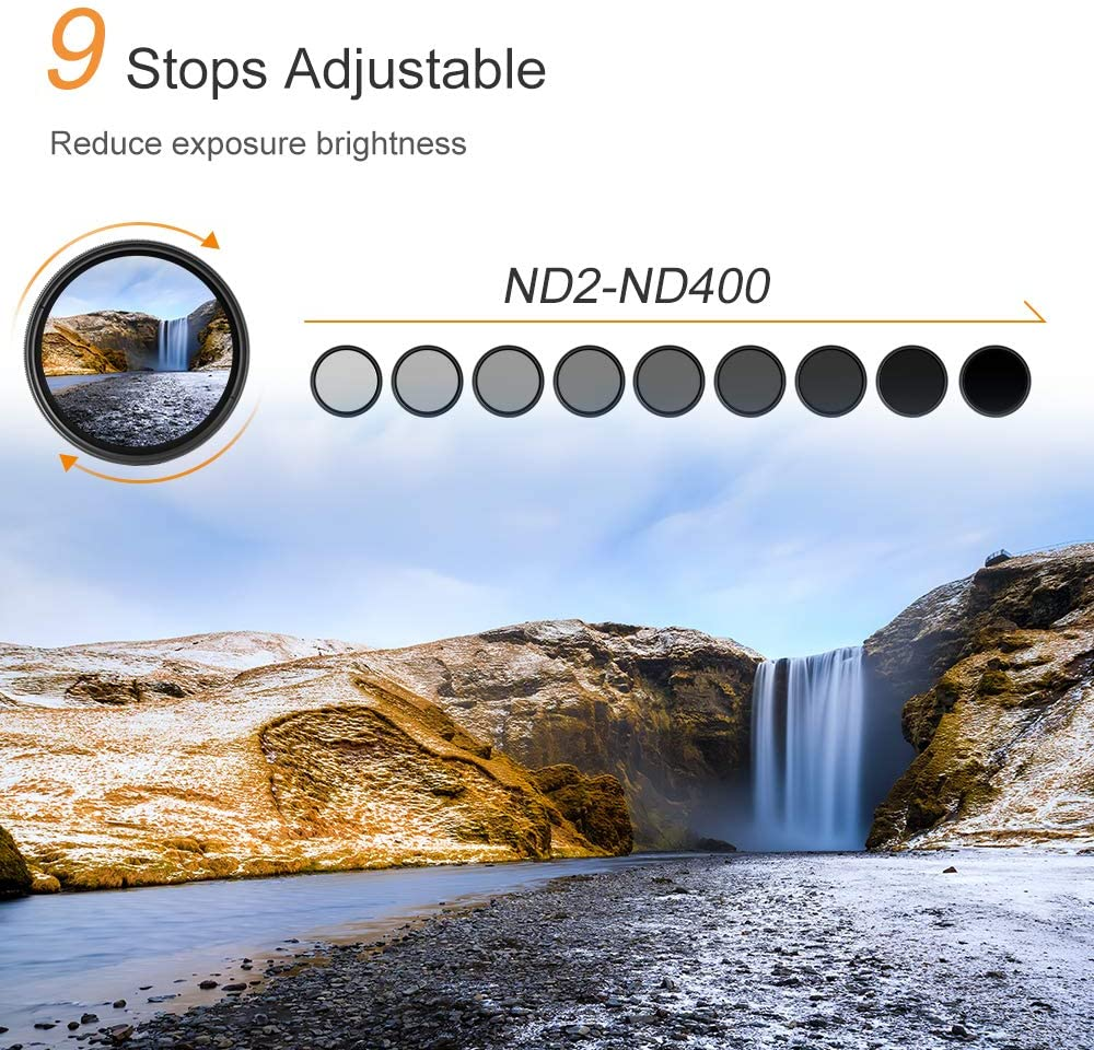 Amazon Com K F Concept 77mm Nd Fader Variable Neutral Density Filter Nd2 To Nd400 For Camera Lens Ultra Slim Multi Coated Camera Photo