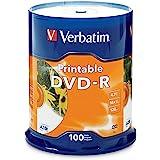 Verbatim DVD-R 4.7GB 16X White Inkjet Printable - 100pk Spindle, 100-Disc (95153)