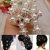 Youpin 20Pcs Pearl Flower Rhinestone Hair Pins Party Prom Wedding Bridal Bridesmaid Clips