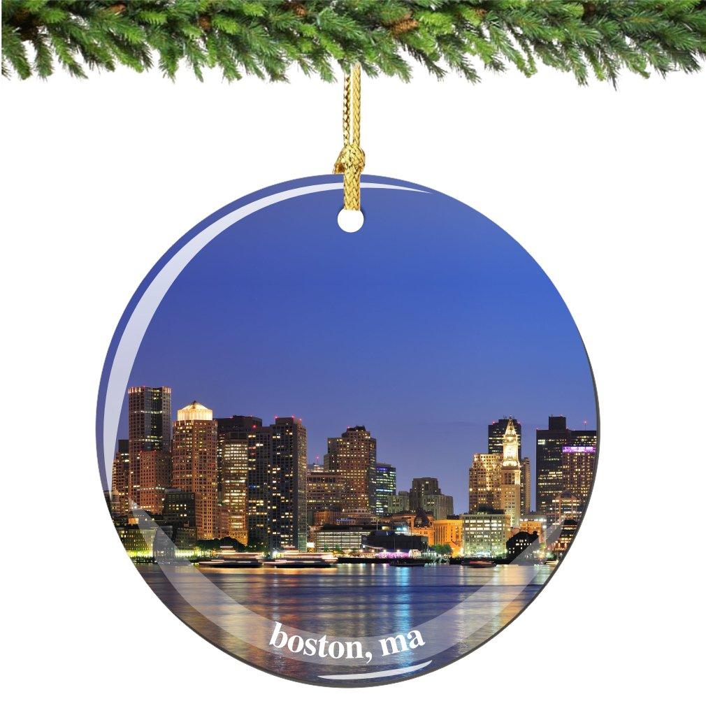 Amazoncom Boston Christmas Ornament Porcelain 275 Double