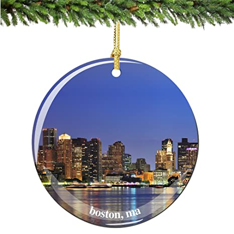 Image Unavailable - Amazon.com: City-Souvenirs Boston Christmas Ornament, Porcelain 2.75