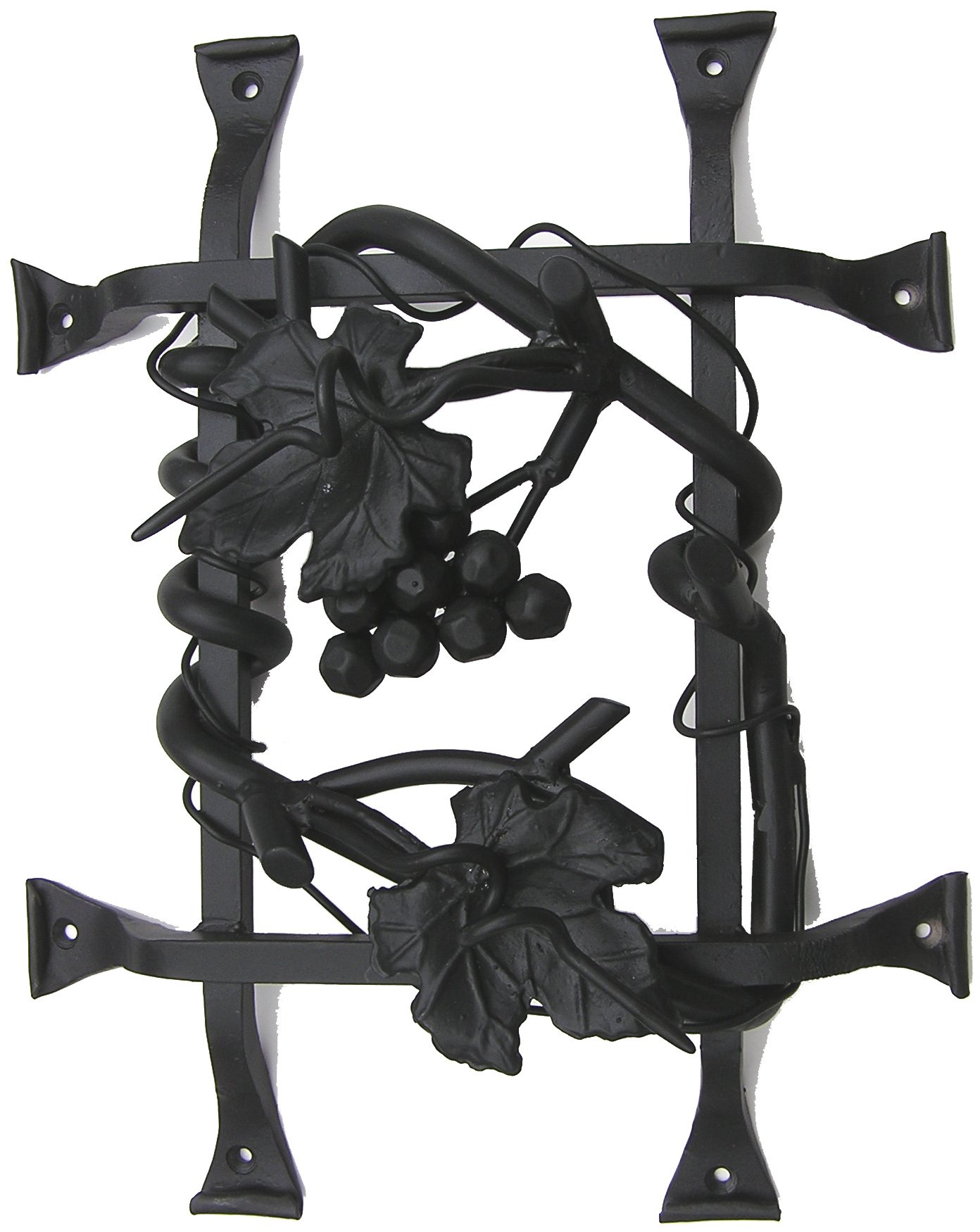 Agave Ironworks Grapevine Cluster Grilles, Dark Bronze Finish by Agave Ironworks