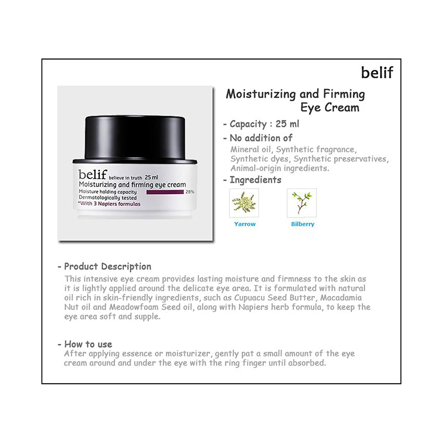 Moisturizing and Firming Eye Cream by belif #11