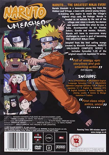 Naruto Unleashed Complete Series 1 [DVD]: Amazon co uk: Chie