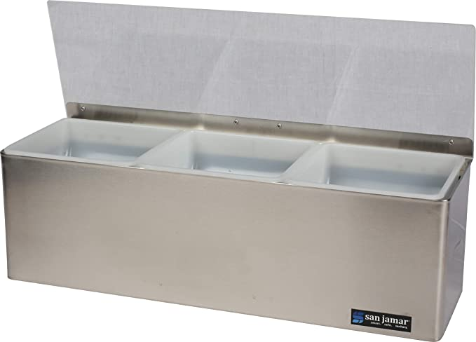 San Jamar B432 1qt Condiment Tray Insert 5-7//8 Height x 2-3//4 Width x 5-1//2 Depth Pack of 12