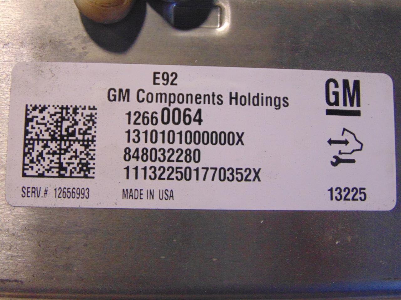 2014 Chevy Silverado Engine Computer Unit ECU PN:12660064