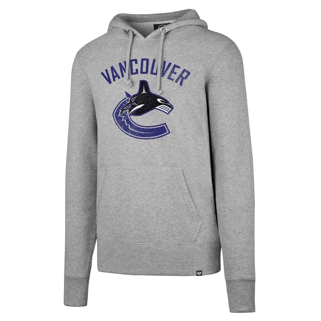 '47 Brand Vancouver Canucks Knockaround Hoodie NHL Sweatshirt Grey