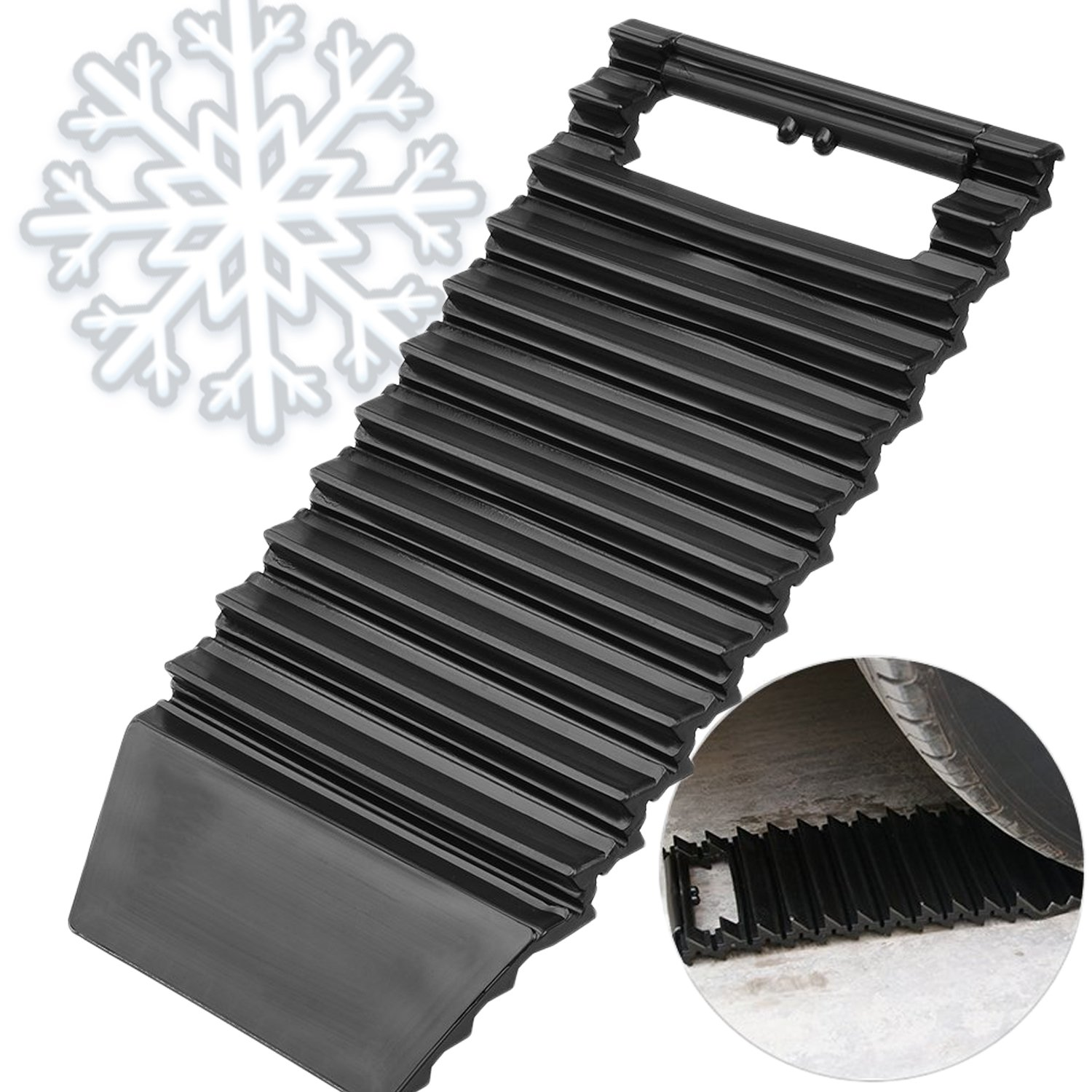 Car Traction Mat And Ice Scraper 2-in-1 Tool - Auto Tread Ideal to Unstuck Your Car Tire From Snow, Ice, Mud, Sand Doubles As Windshield Ice Scraper to Clear Snow And Ice - 1 Piece Ideas In Life 4332981617